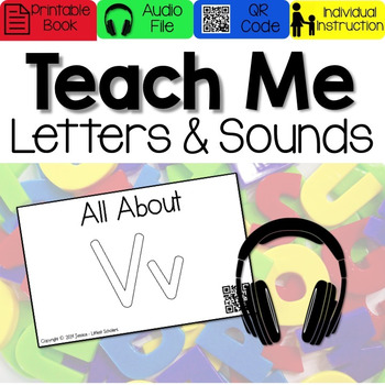 Teach Me Letters and Sounds: Letter Vv [Audio & Interactiv