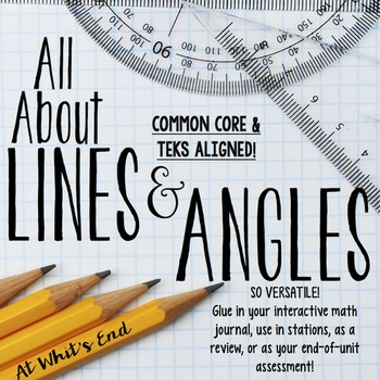 All About Lines and Angles Booklet -Note-taking, stations,