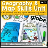All About Maps Unit {Interactive Mini-Book, Vocab. Cards,
