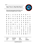 Basic Parts of a Map Word Search (Grades 4-5)