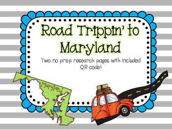 Road Trippin to Maryland
