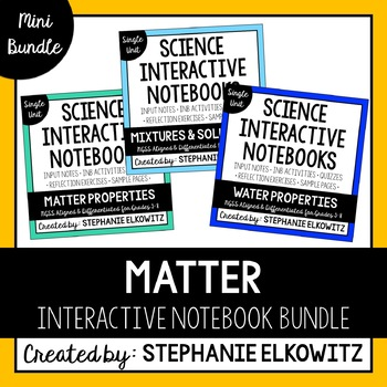 Matter Interactive Notebook Unit Bundle