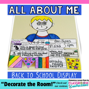 All About Me: A Back to School Activity