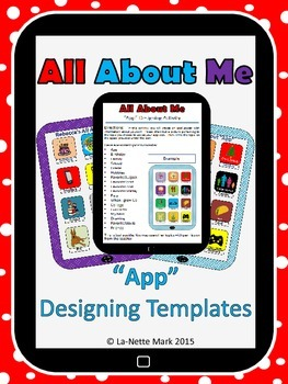 """First Week of School - All About Me """"App"""" Design Templates"""