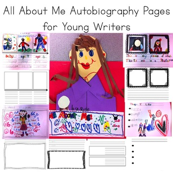 All About Me: Autobiography Writing Pack