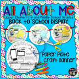 ALL ABOUT ME FIRST WEEK OF SCHOOL BACK TO SCHOOL DISPLAY: