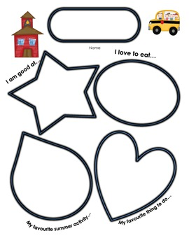 All About Me Back to School Poster