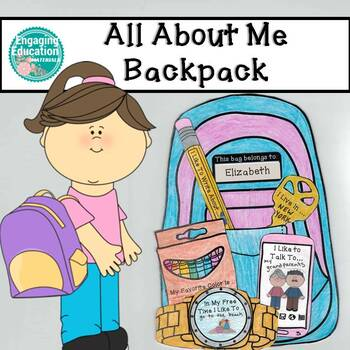 All About Me Backpack Craftivity
