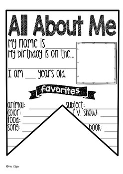 All About Me Banner
