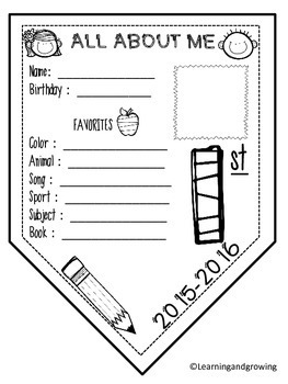 All About Me Banner {Back to School}