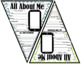 All About Me Banner (Chevron Theme) First Day of School {G