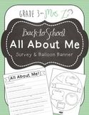 All About Me Survey and Balloon Banner