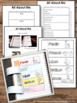 All About Me Interactive Notebook Back to School Getting t