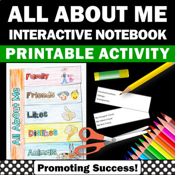 all about me interactive notebook craftivity
