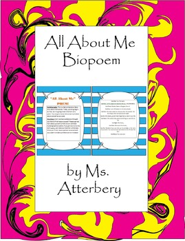 All About Me Biopoem