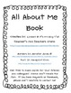 All About Me! Book