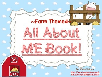 All About Me Book- FARM themed!