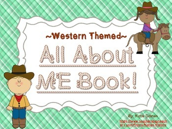 All About Me Book- WESTERN themed!
