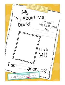 """""""All About Me!"""" Book for Student of the Week"""