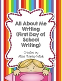All About Me Booklet {First Day of School Writing}