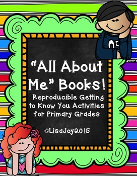 All About Me Books!  Getting to know you activity for prim