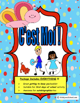 All About Me (C'est Moi!) in FRENCH. Great first days of s