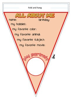 Back to School All About Me Classroom Pennant- Boys and Girls