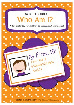 All About Me Craftivity Pre-K and Kindergarten
