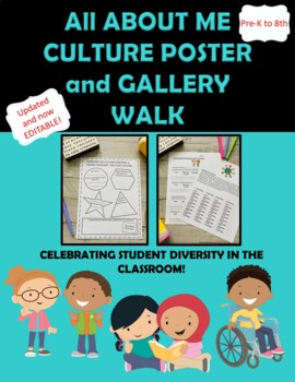 All About Me Culture and Diversity Multicultural Student P
