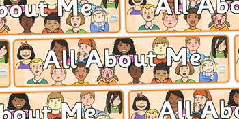All About Me Display Banner