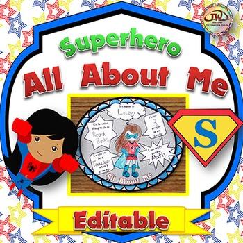 All About Me EDITABLE - Superhero Themed