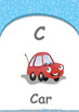 All About Me - Emotions : Letter C : Car - Nursery (2 years old)