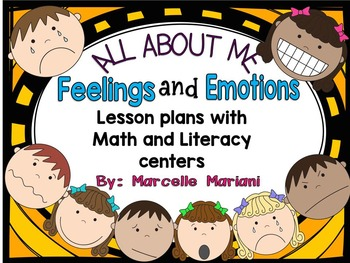 FEELINGS and EMOTIONS: Literacy & Math activities and less