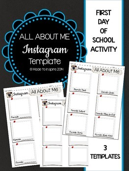 All About Me FIRST DAY Instagram Template