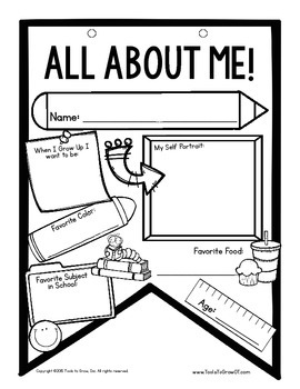 All About Me Flag Banner Craftivity