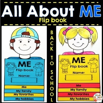 All About Me Flip Book - Back to School activity