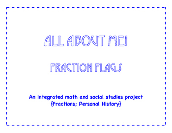 All About Me Fraction Flags {one-half}