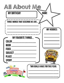 """""""All About Me"""" - Get To Know Your Students!"""
