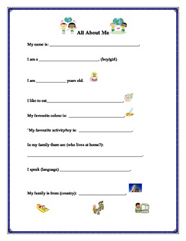 All About Me - Get to know your students