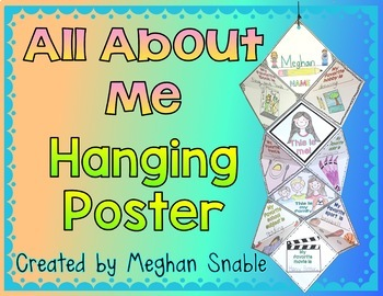 All About Me Hanging Poster