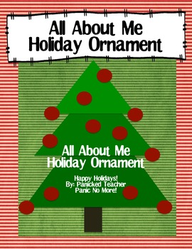 All About Me Holiday Ornament