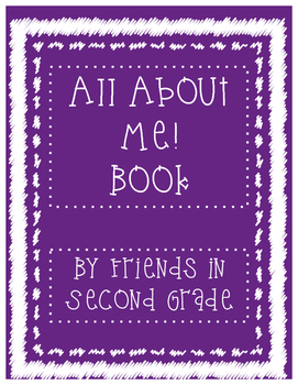 All About Me Kindergarten Book
