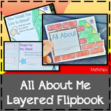 All About Me Layered Flipbook