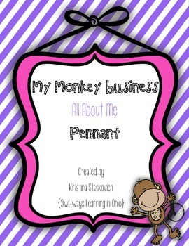 All About Me {My Monkey Business) Pennant Banner