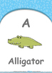 All About Me - My Name : Letter A : Alligator - Nursery (2