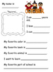 All About Me! (No Prep, Just Print! An activity for every month!)