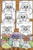 Back to School All About Me Writing Activities with Owl Th