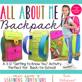 All About Me Paper Backpack! {A Back to School Craftivity}