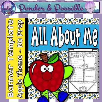 All About Me Bunting ~ Apple Theme ~ Great Back to School