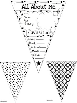 All About Me Pennant {Polka Dots Theme}
